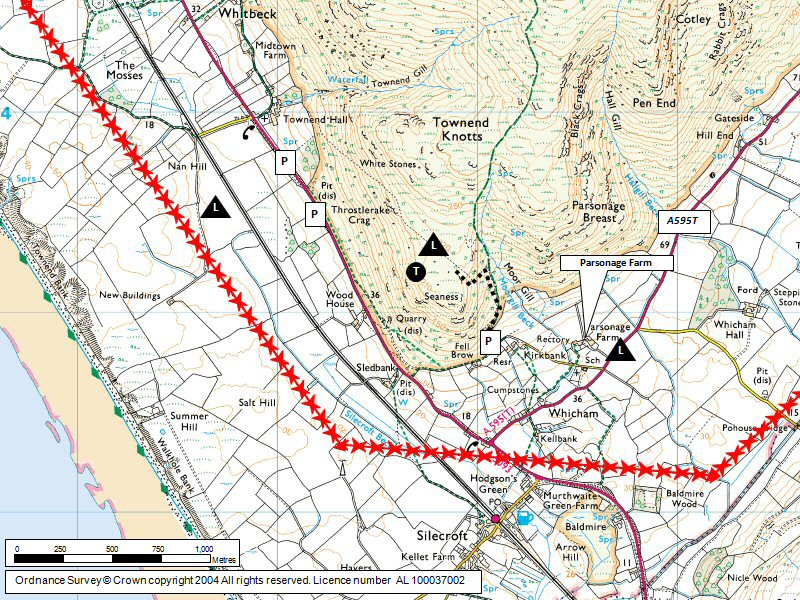 Black Combe (South) Map