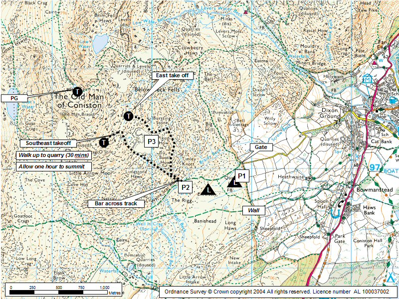 Coniston Old Man Map