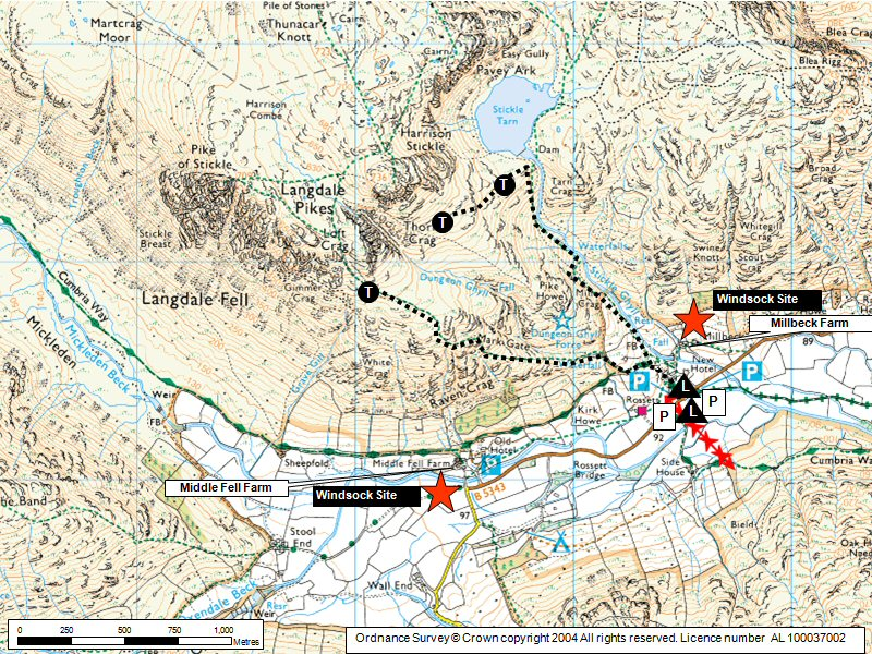 Great Langdale Map